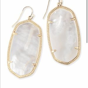 Kendra Scott mother of pearl earrings